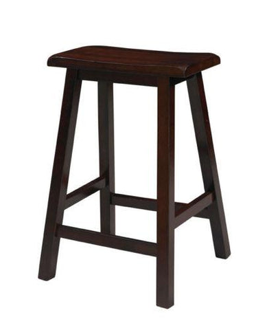 Linon 98441DKBRN01 Saddle Stool 24""