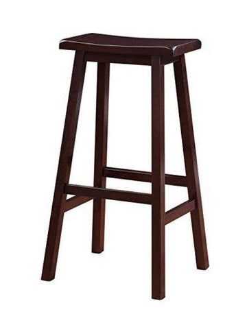 Linon 98442DKBRN01 Saddle Stool 29""