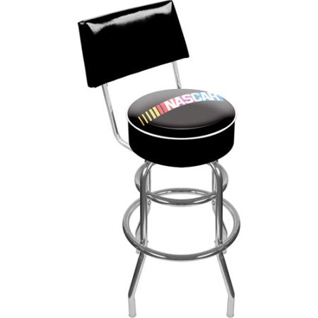Nascar Nascar1100 Nascarr Padded Swivel Bar Stool With Back