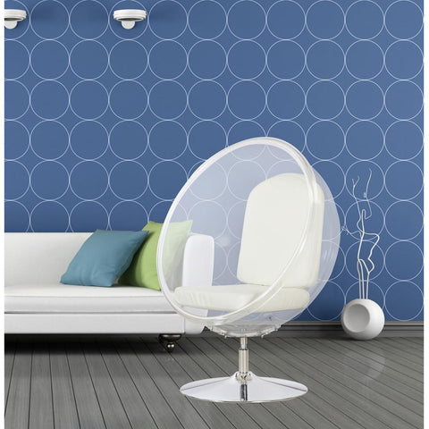 Fine Mod Imports FMI9993-white Ball Acrylic Chair, White - Peazz.com - 7