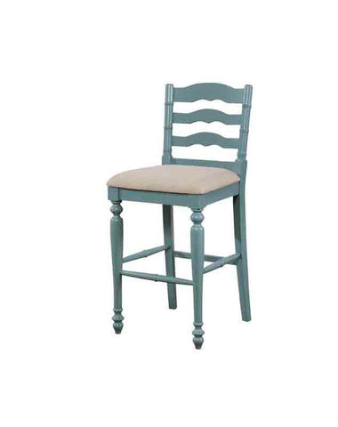 Linon BS004BLU01U Melva Antique Blue Bar Stool