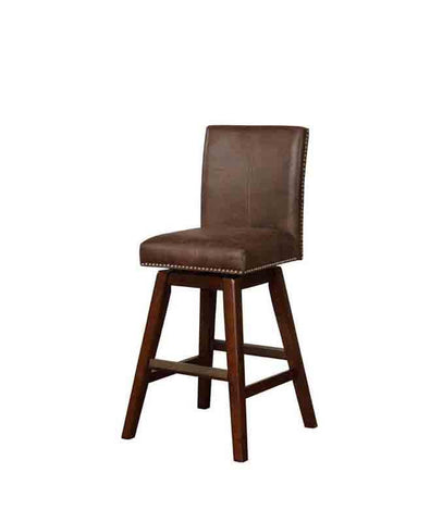 Linon BS026SBL01U Cedar Wood Swivel Bar Stool