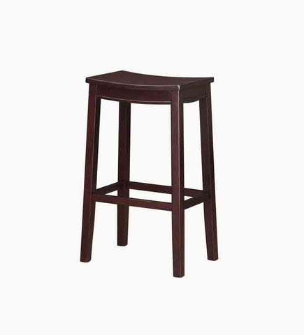 Linon BS097KESP01 Aubree Wooden Bar Saddle Stool