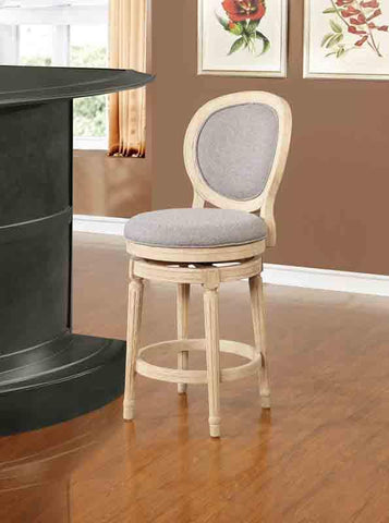 Linon CS023ASH01U Cocoa Wood Swivel Counter Stool