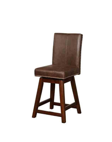 Linon CS025SBL01U Cedar Wood Swivel Counter Stool