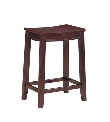 Linon CS096KESP01 Aubree Wooden Counter Saddle Stool