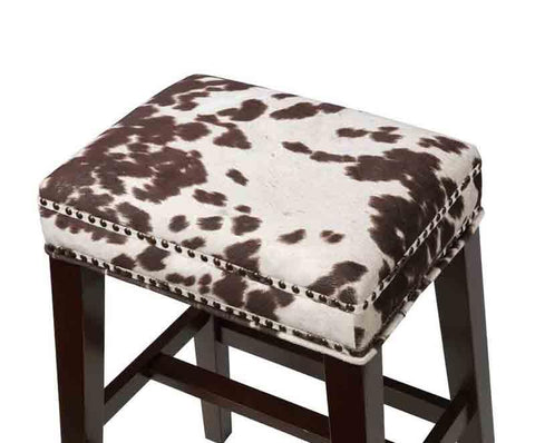 Linon CS099COW01U Walt Brown Cow Print Counter Stool