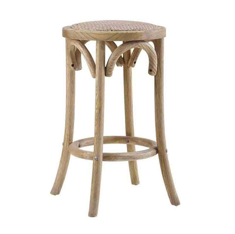 Linon CS153RATT01U Rae Rattan Seat Backless Counter Stool