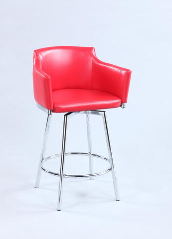 Chintaly DUSTY-BS-RED Club Bar stool w/ memory swivel