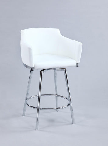 Chintaly DUSTY-BS-WHT Club Bar stool w/ memory swivel
