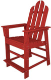 Polywood ECD24SR Long Island Counter Chair Sunset Red Finish - PolyFurnitureStore - 1