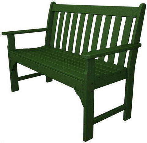 "Polywood GNB48GR Vineyard 48"" Bench Green Finish - PolyFurnitureStore - 1"