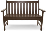 "Polywood GNB48MA Vineyard 48"" Bench Mahogany Finish - PolyFurnitureStore - 2"