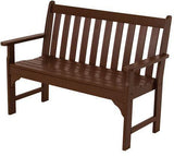 "Polywood GNB48MA Vineyard 48"" Bench Mahogany Finish - PolyFurnitureStore - 1"