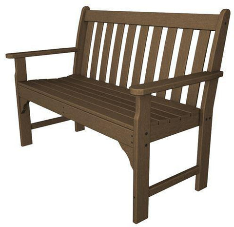 "Polywood GNB48TE Vineyard 48"" Bench Teak Finish - PolyFurnitureStore - 1"
