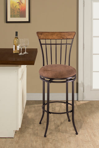 Hillsdale 4670-831 Charleston Swivel Vertical Spindle Bar Stool