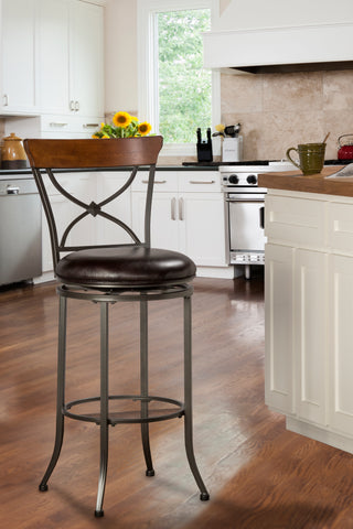 Hillsdale 4671-826 Cameron Swivel X-Back Counter Stool