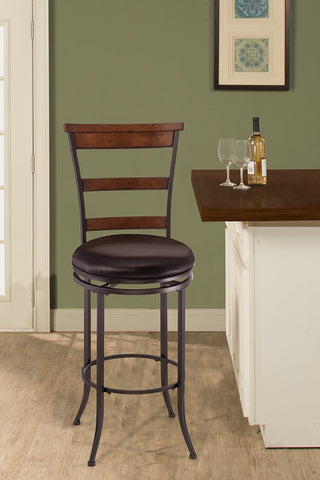 Hillsdale 4671-828 Cameron Swivel Ladder Back Counter Stool