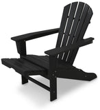 Polywood HNA15BL Palm Coast Ultimate Adirondack with Hideaway Ottoman Black Finish - PolyFurnitureStore - 2