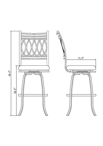 Chintaly JULIA-BS Memory Return Swivel Bar Stool