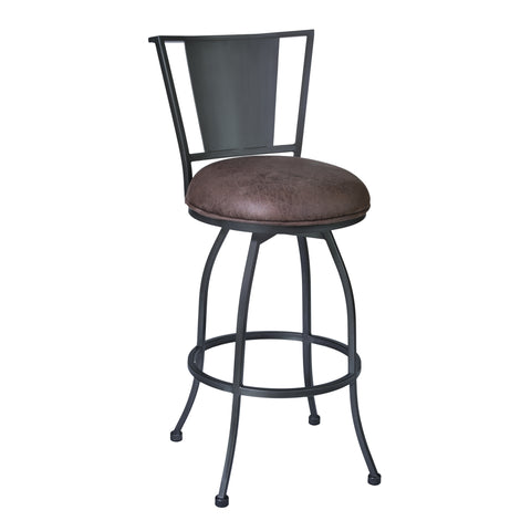 "Armen Living LCDY26BATO Dynasty 26"" Counter Height Barstool in Mineral finish with Bandero Tobacco"