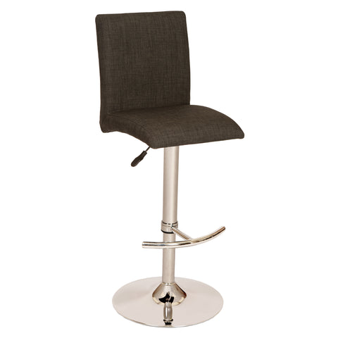 Armen Living LCLBSWBACH La Jolla Adjustable Swivel Barstool in Chrome Finish with Charcoal Fabric