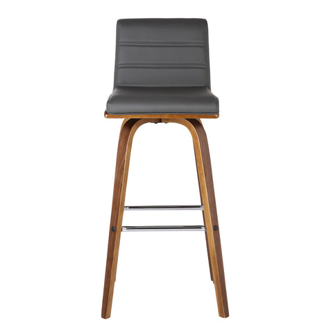 Terrific Armen Living Lcvibagrwa26 Vienna 26 Counter Height Barstool In Walnut Wood Finish With Grey Faux Leather Squirreltailoven Fun Painted Chair Ideas Images Squirreltailovenorg