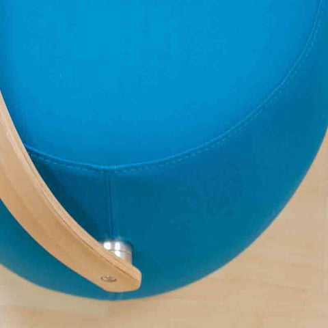 Mod Made Mm Sw10001 Blue Bucket Stool Chair With Handle
