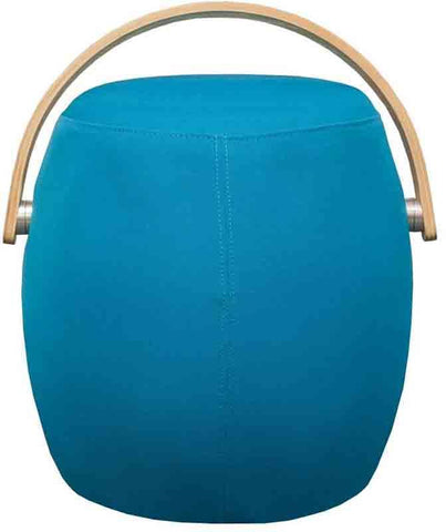 Mod Made MM-SW10001-Blue Bucket Stool Chair with Handle