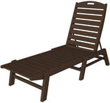 Polywood NAC2280MA Nautical Chaise - Stackable Mahogany Finish - PolyFurnitureStore - 1