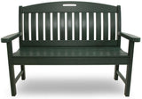 "Polywood NB48GR Nautical 48"" Bench Green Finish - PolyFurnitureStore - 2"