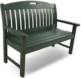 "Polywood NB48GR Nautical 48"" Bench Green Finish - PolyFurnitureStore - 7"