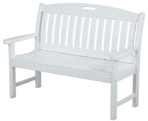 Polywood Bench White Nautical