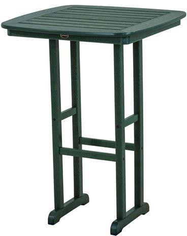 "Polywood NCBT31GR Nautical 31"" Bar Table Green Finish - PolyFurnitureStore"