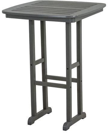 "Polywood NCBT31GY Nautical 31"" Bar Table Slate Grey Finish - PolyFurnitureStore - 1"