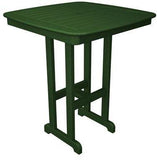 "Polywood NCBT37GR Nautical 37"" Bar Table Green Finish - PolyFurnitureStore - 1"