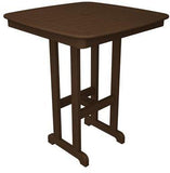 "Polywood NCBT37MA Nautical 37"" Bar Table Mahogany Finish - PolyFurnitureStore - 1"