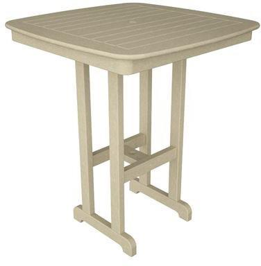 "Polywood NCBT37SA Nautical 37"" Bar Table Sand Finish - PolyFurnitureStore - 1"