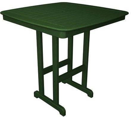 "Polywood NCBT44GR Nautical 44"" Bar Table Green Finish - PolyFurnitureStore - 1"