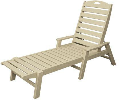 Polywood NCC2280SA Nautical Chaise with Arms - Stackable Sand Finish - PolyFurnitureStore - 1