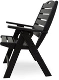 Polywood NCH38BL Nautical Highback Chair Black Finish - PolyFurnitureStore - 2