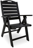 Polywood NCH38BL Nautical Highback Chair Black Finish - PolyFurnitureStore - 6
