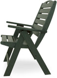 Polywood NCH38GR Nautical Highback Chair Green Finish - PolyFurnitureStore - 2