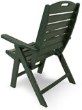 Polywood NCH38GR Nautical Highback Chair Green Finish - PolyFurnitureStore - 3