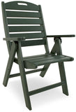 Polywood NCH38GR Nautical Highback Chair Green Finish - PolyFurnitureStore - 6