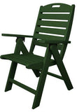 Polywood NCH38GR Nautical Highback Chair Green Finish - PolyFurnitureStore - 1