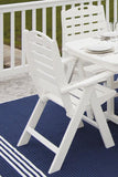 Polywood NCH38WH Nautical Highback Chair White Finish - PolyFurnitureStore - 7