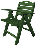 Polywood NCL32GR Nautical Lowback Chair Green Finish - PolyFurnitureStore - 1