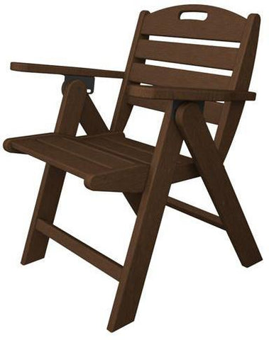 Polywood NCL32MA Nautical Lowback Chair Mahogany Finish - PolyFurnitureStore - 1