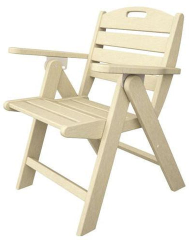 Polywood NCL32SA Nautical Lowback Chair Sand Finish - PolyFurnitureStore - 1